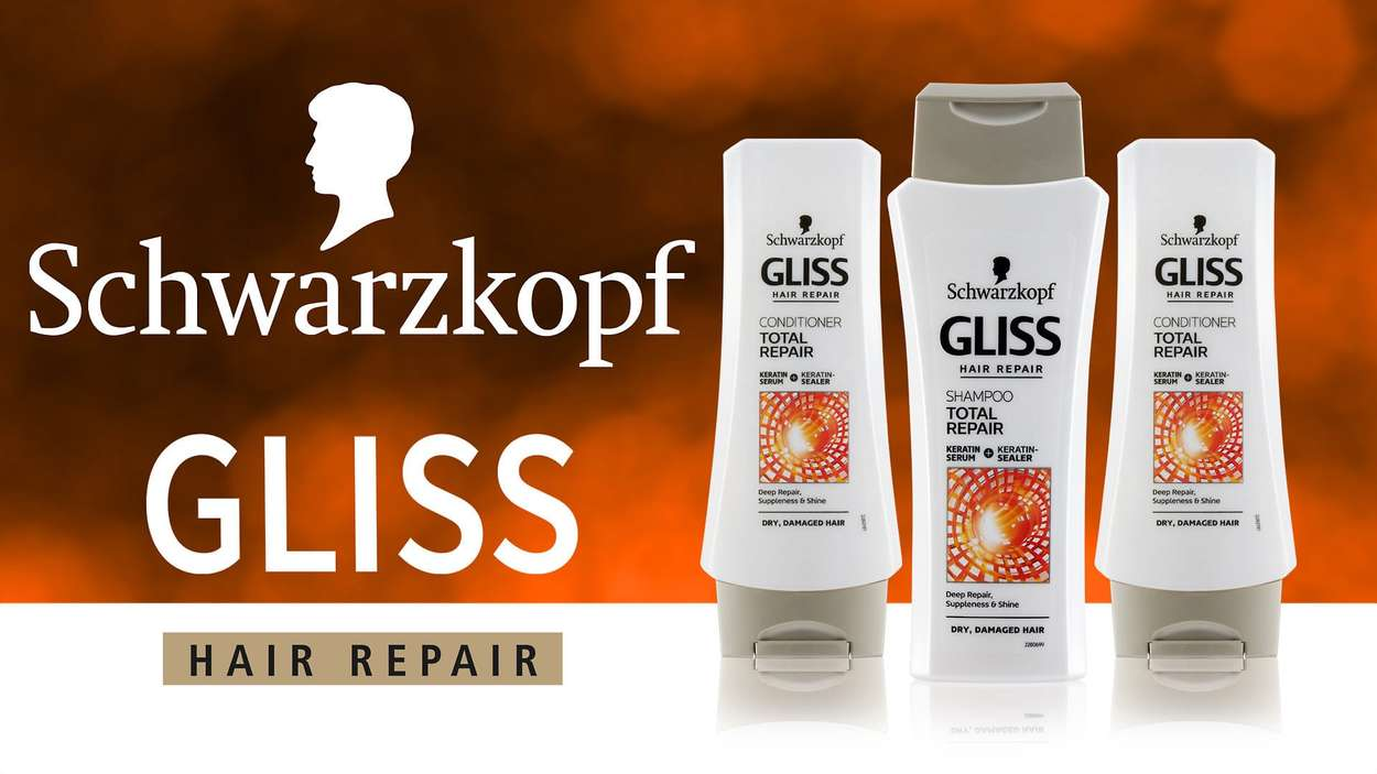 Schwarzkopf Gliss shampoo and conditioner product photograph by photographer Bernard Bleach